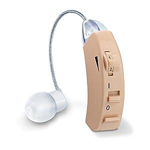 Beurer HA 50 Hörhilfe, Rauscharme Wiedergabe und Verstärkung aller Geräusche, ergonomische Passform und drei Aufsätze für den Gehörgang