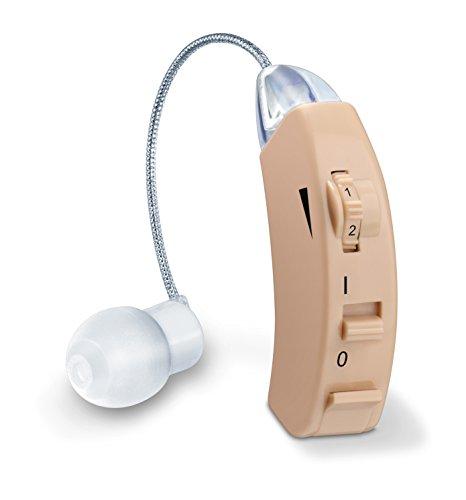 Beurer HA 50 Hörgerät, Rauscharme Wiedergabe und Verstärkung aller Geräusche, ergonomische Passform und drei Aufsätze für den Gehörgang