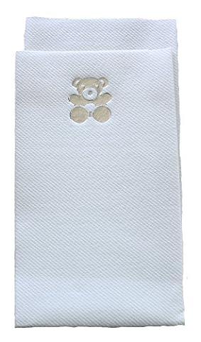 20x Serviettes en papier airlaid Luxe 40x 40cm couverts pliable–Argent Teddy