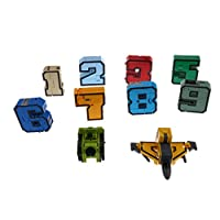 Homyl Numbers Armour Transforming Robot Kids Play Toy Gift Display Set of 10Pcs - 0-9