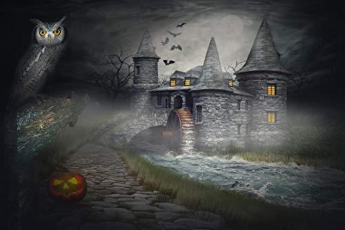(FORH Halloween Kulissen Ostern, Foto-Hintergrund, Requisite Kürbis Vinyl 3x5FT Fotostudio Video Fotografie Fotografie Studio für Portrait, Produkt Fotografie und Videoaufnahme)