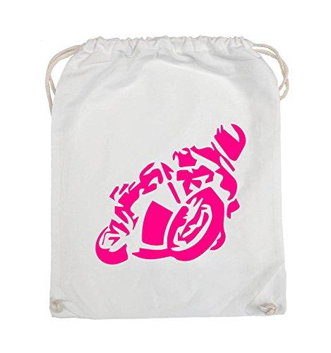 Borse Da Commedia - Motociclisti Grandi - Borsa Da Giro - 37x46cm - Colore: Nero / Rosa Bianco / Rosa