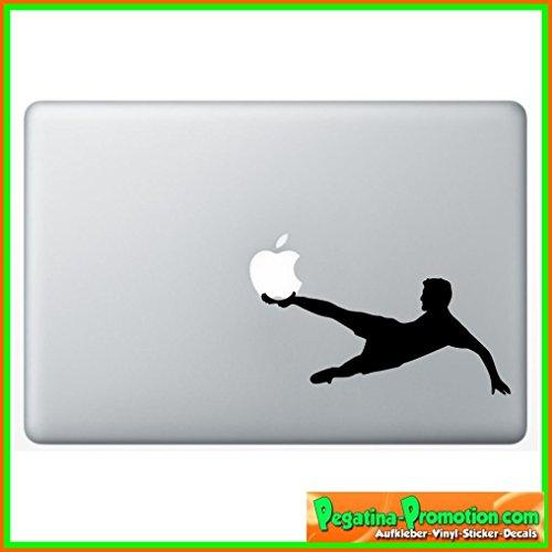 """Preisvergleich Produktbild """"Fussball"""" Aufkleber Sticker für Macbook Air 11 13,  Macbook skin 13,  15,  17 Zoll inch Apple Notebook Aufkleber ohne Hintergrund Tattoo Vinyl PEGATINA Fußballer"""