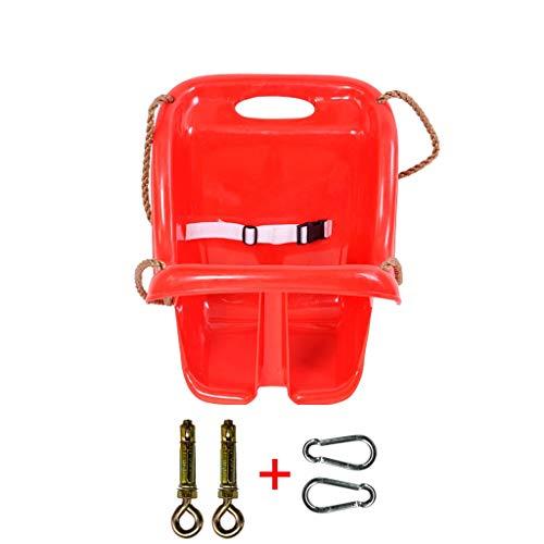 Kunststoffstuhl mit hoher Rückenlehne Sicherer und haltbarer Indoor-Spielplatz Schaukel Baby (Rot/Blau) (Color : Red-B) ()
