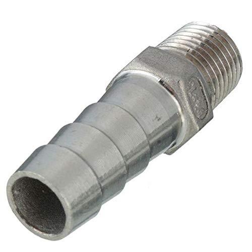 KUNSE 1/4 Inch Thread Pipe Barb Schlauchschlauch-Adapter 6mm Bis 12mm-12mm -