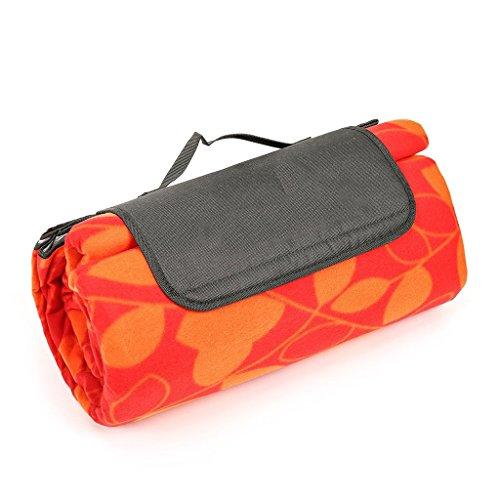 Picknick-Matte im Freien feuchtigkeitsdichten Matte 4-6 Personen Picknick-Matte 200 * 200 cm Wilden Camping Zelt Picknick-Matte Matte (Color : Orange, Size : 200 * 200cm)