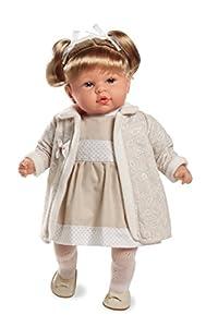 ARIAS - Muñeca bebé Dennis, Mecanismo de Risa Try me, Color Beige, 45 cm (65163)