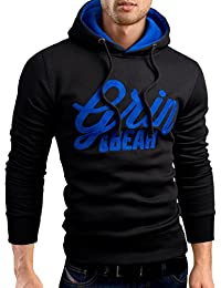 Grin&Bear logo de signature sweat à capuche veste sweat shirt homme, GEC469