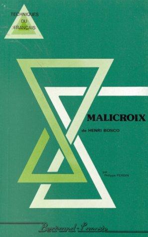 MALICROIX-PARCOURS DE LECTURE