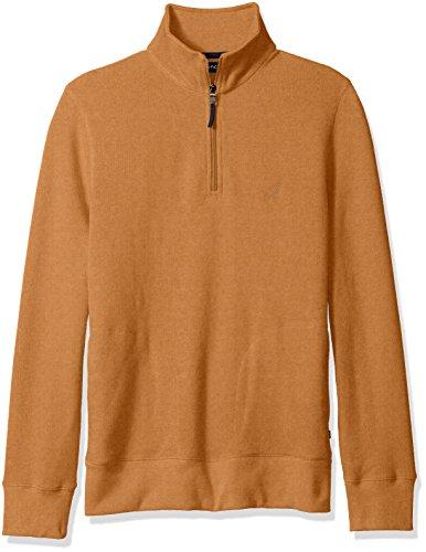 nautica-mens-quarter-zip-pullover-spiced-amber-xxl