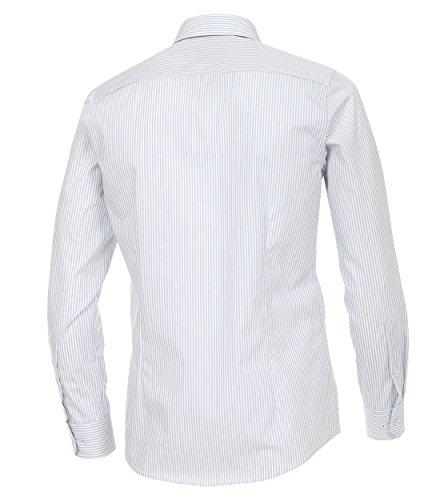 Venti - Slim Fit - Gestreiftes Herren Hemd, Bügelfrei (172726700) Silber (700)