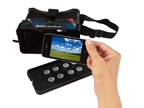 Revell Control RC VR Quadrocopter mit FPV Kamera und VR-Brille, Live-Übertragung über WiFi, Video-Stream aufs eigene Smartphone, ferngesteuert mit 2,4 GHz Fernsteuerung, Wechsel-Akku, VR SHOT 23908 - 5