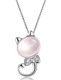 aacf9d06efee AIUIN Mujer Collar Estilo gatito en brillantes de polvo para mujer regalo  de pareja Valentín día