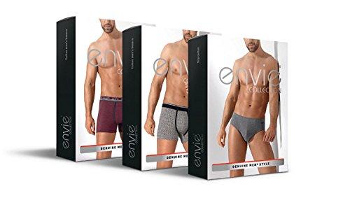 Tespol bequeme und elegante Herren-Boxershorts aus Baumwolle in toller Geschenkbox, made in EU Dunkelblau-gemustert