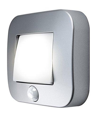 Osram LED Nightlux Hall Batteriebetriebene Leuchte, für innenanwendungen, Bewegungssensor, Tag-Nacht-Sensor, Kaltweiß, 84, 0 mm x 73, 0 mm x 22, 0 mm