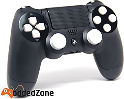 """Black/White"" PS4 Rapid Fire Modded Controller for COD Black Ops3, Infinity Warfare, AW, Destiny, Battlefield: Quick Scope, Drop Shot, Auto Run, Sniped Breath, Mimic, More"