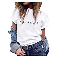 Qrupoad Womens TV Show T Shirts Summer Casual Short Sleeve Graphic Shirt Tees Tops White