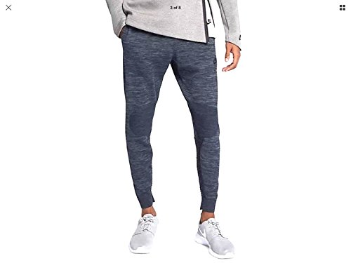 Nike NSW Tech Knit Sweat Pants Obsidian Blue Heather Black, L, 832180 473 -