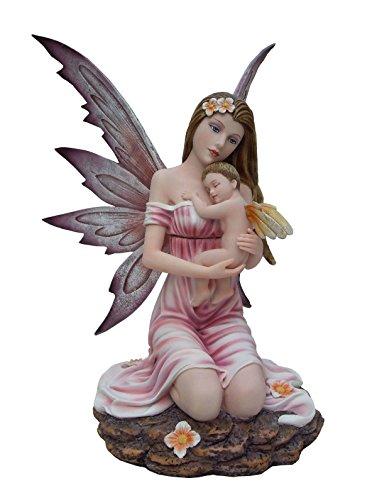 Statuette FEE Angel Son Bebe (HT 32 x 24.5 cm)