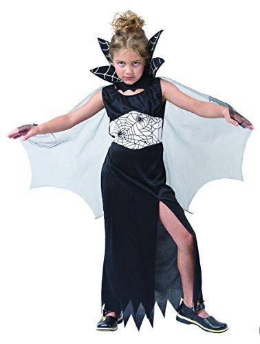 Halloween Spinnenkönigin-Kostüm für Mädchen 140/152 (10-12 (Spinnenkönigin Mädchen Für Kostüm)