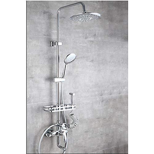 Preisvergleich Produktbild Duschset,  kupferner Haushaltsduschkopf,  Badbadewein,  Badduscharmatur,  Duschset,  Ladedusche, -Silver4