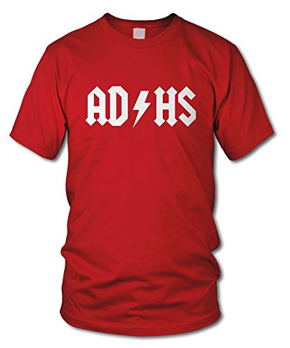 shirtloge - AD HS - KULT - Fun T-Shirt - in verschiedenen Farben - Größe S - XXL Rot (Weiß)