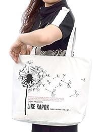 Hoho Com Women'S Urban Style Genuine Leather Tote Shoulder Bag (White / Flower)