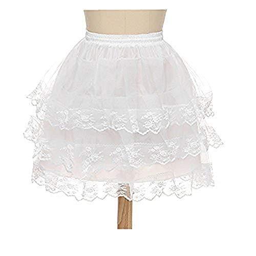 Noriviiq Mädchen Hoopless Net Petticoat Rock Weiß Blumenmädchen Unterröcke Krinoline Kinder (Stil8)