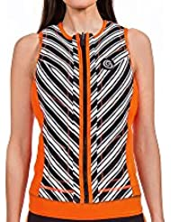 GlideSoul pour Femme Vibrant Stripes Collection - Gilet d'impact Réversible
