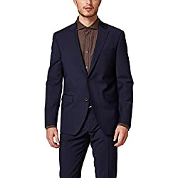ESPRIT Collection 998eo2g800 Chaqueta de Traje, Azul (Navy 400), 46 para Hombre