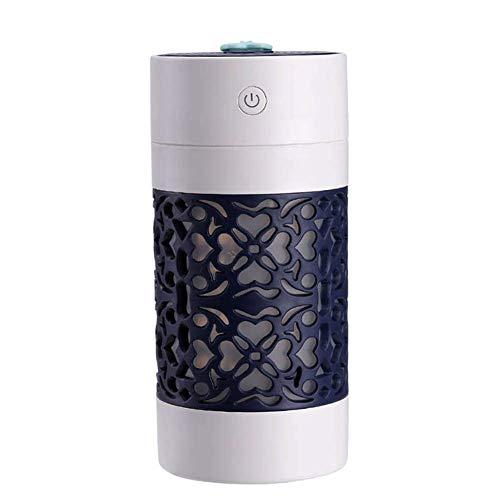 Bxchx Vapor Frío Humidificador Lucky Taza USB Portátil Aire Purificador para Coches Escritorio Hogar Niños Dormitorio 250ML Mini con LED Lámpara Mesilla Aroma Esencial Difusor - Negro, 250ml
