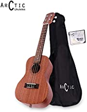 Arctic AC-UK24SPL Soprano Ukelele Kit with Bag and String Set (Natural)