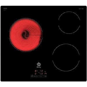 Balay 3EB714ER Hobs – Placa (integrado, vidrio y cerámica, 220 – 240 V), color negro, 59,2 x 52,2 x 3,9 cm
