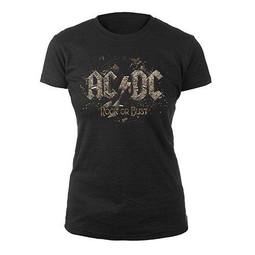 AC/DC-Camiseta-Mujer Negro XX-Large