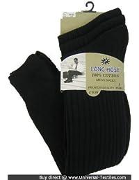 Chaussettes longues en coton pour homme-Lot de 3