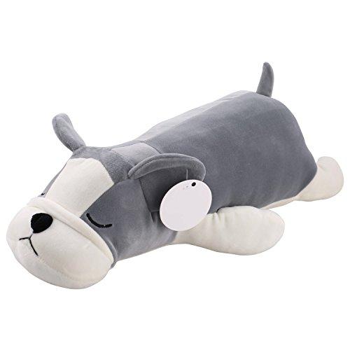 Smibie kuschelig hund Kissen Stoffspielzeug Plüschtier Stofftier für Kinder Graues 55cm/2Iinch