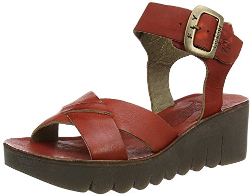 Fly LondonYERA523FLY - Sandali donna , Rosso (Rosso (Devil Red)), 39