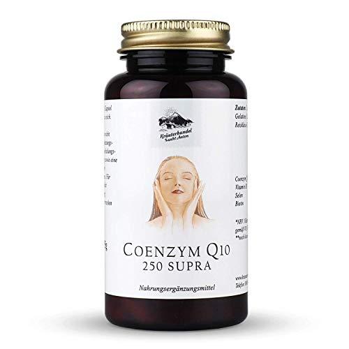 Kräuterhandel Sankt Anton - Coenzym Q10 250 Supra - 150 Kapseln - mit Vitamin B3, Selen, Biotin, Ubichinon und Niacin - Deutsche Premium Qualität