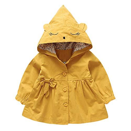 Kinder Mäntel Sunnydrain Kinderjacken Hooded A-Line Floral Reine Farbe Patchwork Winter Warm Herbst Kapuzen Outerwear Baumwolle Langarm