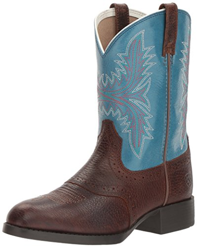 Ariat - Jugend Hrtg Hackamore Fiddle BRN/Malibu Schuhe, 24 M EU, Brown