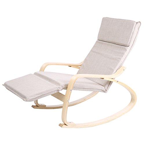 HWF Fauteuils à bascule Chaise à bascule Fauteuil inclinable Adulte Chaise  ancienne Chaise libre et sans 6b12b5b12f23