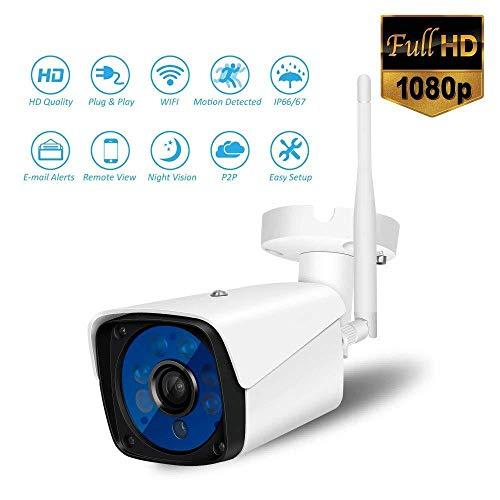 XINCH-MONITOR 2 Million HD drahtlose IP-Kamera 1080P WiFi Fern Bewegung erkennen Alarm mit Zwei-Wege-Audio Nachtsicht Home Security Surveillance Indoor/Outdoor-Einsatz Unterstützung 16GB-Karte