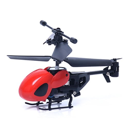 SUCES RC Hubschrauber ferngesteuerter Hubschrauber für Einsteiger 2CH Fernsteuerung einfach zu fliegen Gyro stabiles Chassis Mini rc helicopter Radio Remote Control Aircraft (Red)