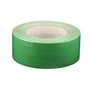 All Trade Direct 1 X Green Gaffer 50Mm X 50M Waterproof Adhesive Cloth Duct Tape Gaffa Duck Tank by All Trade Direct