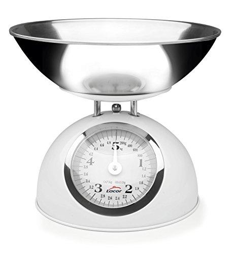 Lacor - 61714 - Bascula Cocina Retro Acero 5kg - Rojo
