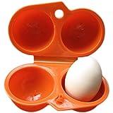 Da.Wa Da.Wa Almacenaje Portable del Huevo, 2 Huevos, Caja Plástica Para el Refrigerador de la Cocina, Recorrido al Aire Libre-Naranja