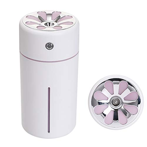 MYPXX Luftbefeuchter 360Ml Aromatherapie Ätherisches Öl Diffusor Auto USB Tragbare Mini Aroma Hydrating Sprayer für Yoga Office Spa,Pink -