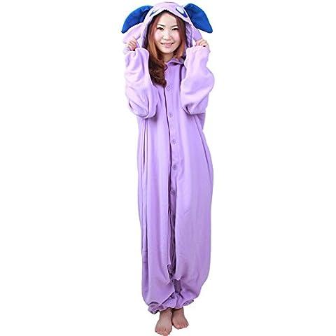 Mujer Mujer Hombre Lounge Wear Navidad Anime Cosplay Kigurumi pijama morado animal de elfo adulto Disfraces sudadera con capucha