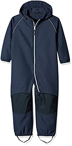 NAME IT Unisex Baby Schneeanzug Nitalfa Softshell Wholesuit HB Blu MZ FO Blau (Dress Blues), 104