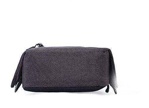 BULAGE Pack Brustbeutel Multifunktions M-Paket Urban Mode Freizeit Männer Diagonal Draußen Oxford Tuch Atmosphäre Darkgray